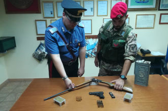 CC Santa Lucia del Mela rinvenimento armi