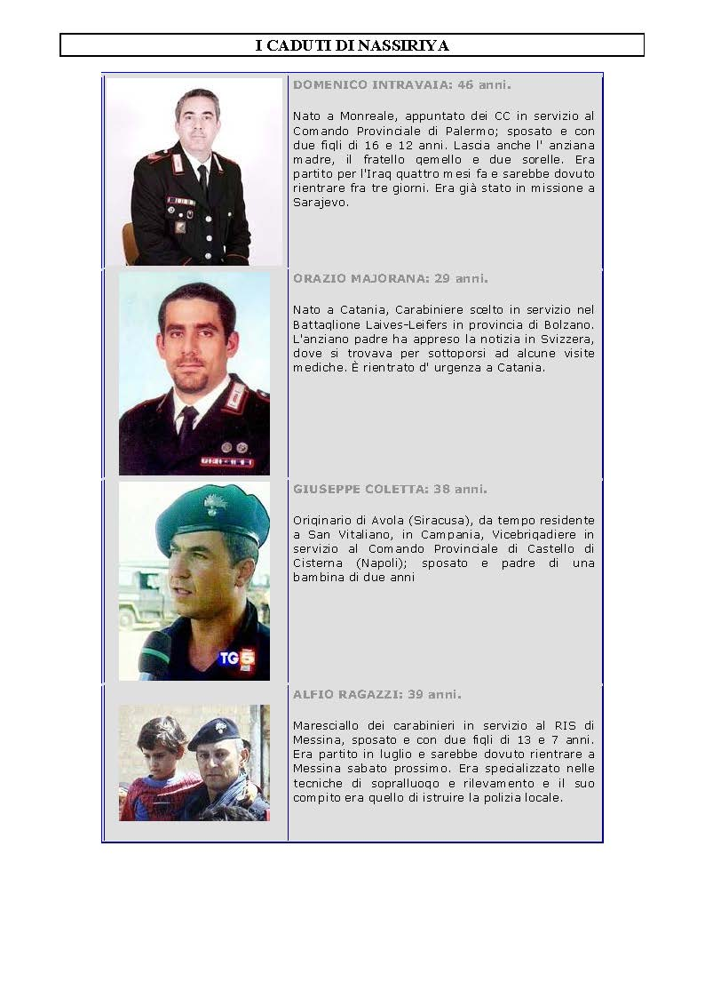 I CADUTI DI NASSIRIYA - PER NON DIMENTICARE_Pagina_1