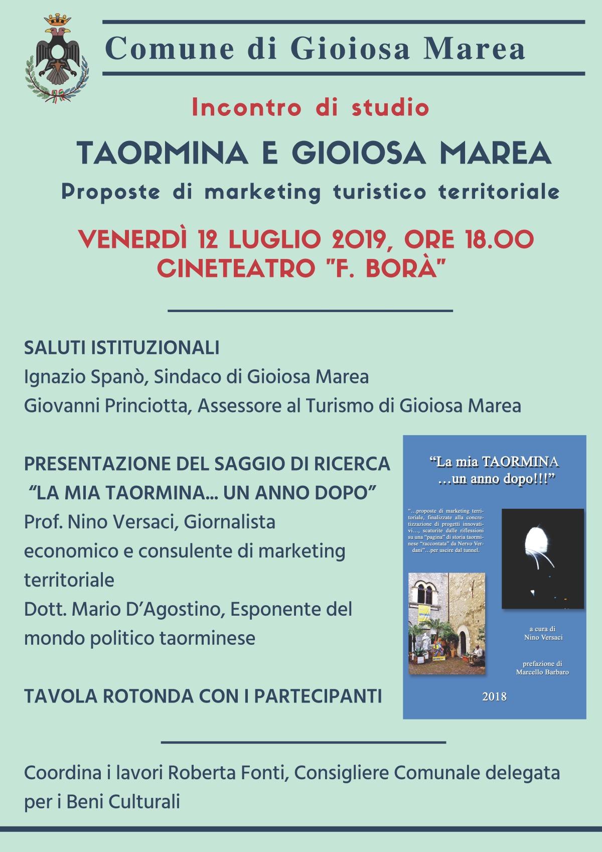 Incontro di studio Taormina & Gioiosa Marea