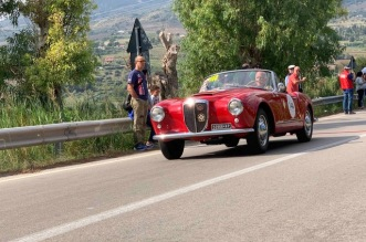 Presidente Sticchi Damiani su Lancia Aurelia B24