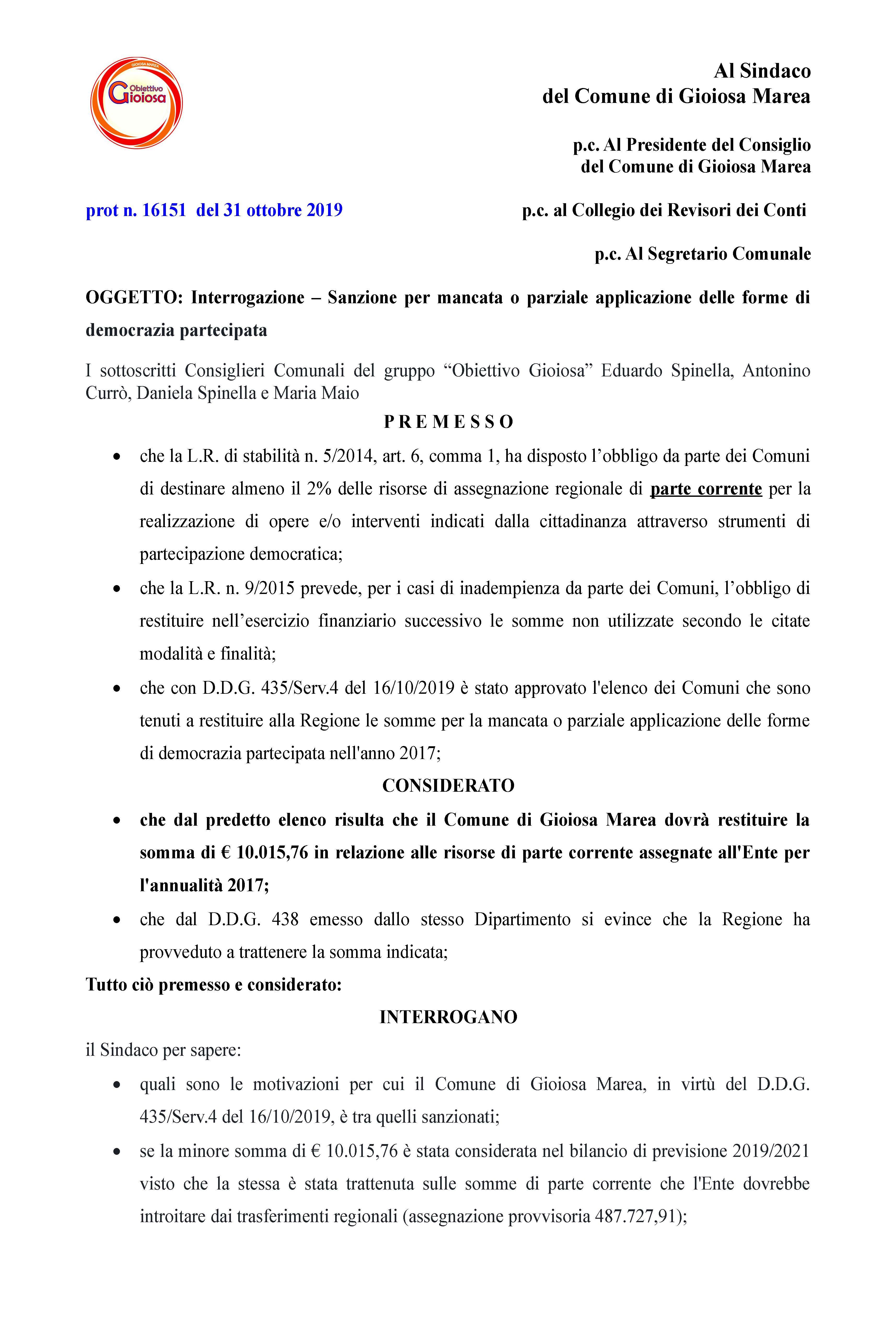 interrogazione sanzione Democrazia Partecipata 2017 prot_Pagina_1