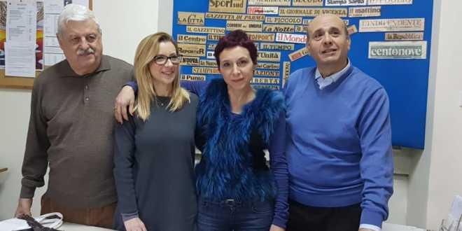 Da sinistra Gigi Andò, Rossana Franzone, Graziella Lombardo e Sandro Cuzari