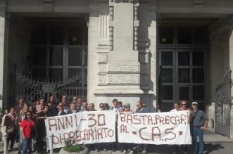 Protesta lavoratori CAS