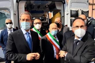 Bronte - Inaugurazione ambulanza
