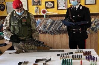 CC Sant'Agata di Militello sequestro armi